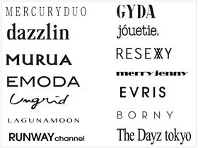MARK STYLER株式会社【MERCURYDUO】【MURUA】【dazzlin】【Ungrid】【EMODA】etc.
